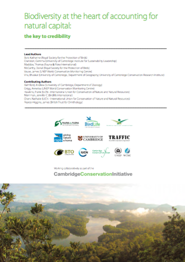 Biodiversity at the heart of natural capital